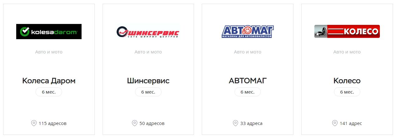 Партнеры карты Свобода Хоум Кредит в категории Авто и мото
